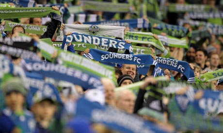 Seattle Sounders fans cheer during the 2011 Lamar Hunt US Open Cup Final against the Chicago Fire