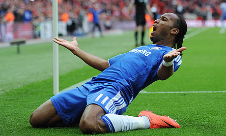 Didier Drogba seals FA Cup final win for Chelsea against Liverpool