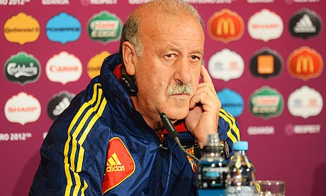 Spain head coach Vicente Del Bosque