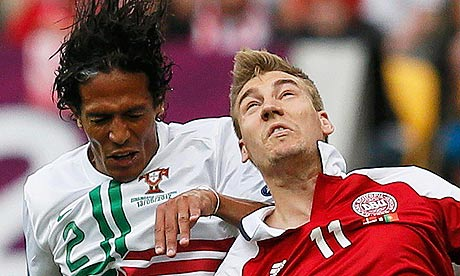 Bruno Alves with Nicklas Bendtner