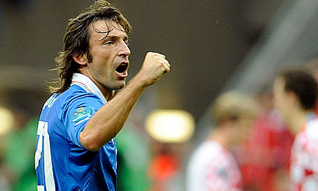 Andrea Pirlo of Italy celebrates