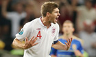 Steven Gerrard urges on England