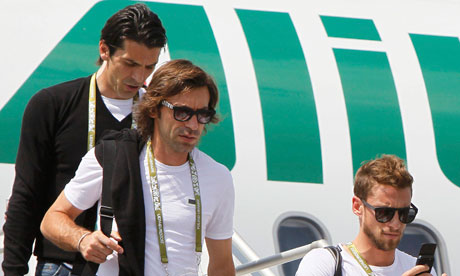 Gianluigi Buffon, Andrea Pirlo and Claudio Marchisio