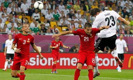 Mario Gomez Germany vs Portugal