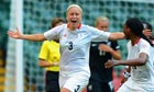 London 2012: Great Britain's Stephanie Houghton celebrates scoring against New Zealand