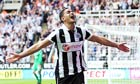 Hatem Ben Arfa of Newcastle celebrates after he scores from the penalty spot against Tottenham.