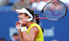 Laura Robson is in disbelief after beating Kim Clijst