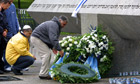 Israelis place flowers at the memorial in Munich