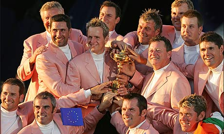 2012 Winning Ryder Cup Team Ryder Cup 2012 Only Yellow