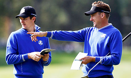 Justin Rose, left, says he has a great relationship with his Ryder Cup team-mate Ian Poulter.