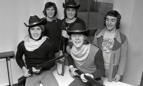 Manchester United players dressed up in cowboy gear