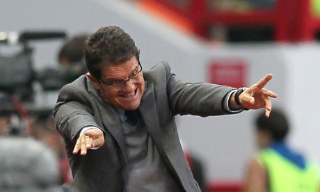 Russia coach Fabio Capello during his side's 2-0 win over Northern Ireland in a World Cup qualifier