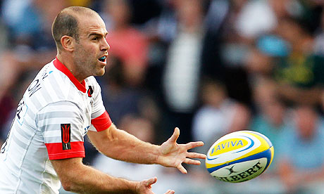 Charlie Hodgson collected 18 points for Saracens during the game against Sale.
