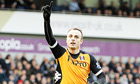 Fulham's Dimitar Berbatov celebrates scoring at West Bromwich Albion in the Premier League