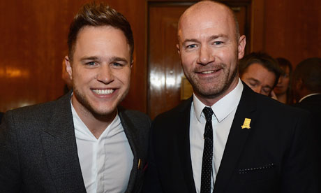 Olly Murs and Alan Shearer help launch the FA's 150th anniversary year. Obviously