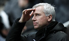 Newcastle United's manager Alan Pardew