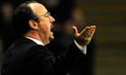 Chelsea's manager Rafa Benitez reacts