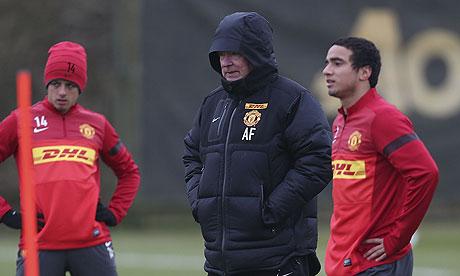 Manchester United's Sir Alex Ferguson at Carrington