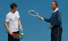 Andy Murray listens to his coach Ivan Lendl