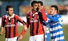 Milan midfielder Kevin-Prince Boateng leaves the pitch