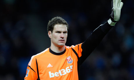 Stoke City goalkeeper Asmir Begovic
