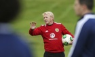 Scotland manager Gordon Strachan during training at Bishopton for the game against Croatia