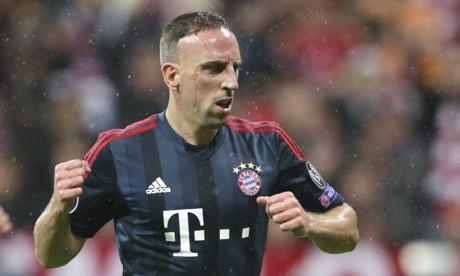 Bayern Munich's Franck Ribéry v Viktoria Plzen