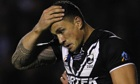 Sonny Bill Williams burst through for the All Blacks late on only to cross the dead-ball line