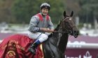 Treve and Thierry Jarnet after their victory in the Qatar Prix de l'Arc de Triomphe