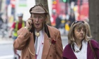 John McCririck, the the horse racing pundit, outside the Employment Tribunal