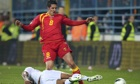 Stevan Jovetic gets the better of England during the game in Podgorica in March.