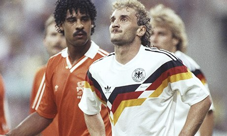 Frank Rijkaard and Rudi Voller