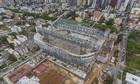 An aerial view of the Arena da Baixada stadium in Curitiba, taken in October