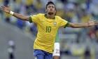 (FILE) Brazil's forward Neymar celebrate