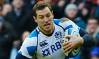 Tim Visser in action for Scotland against Italy