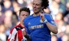 David Luiz collides with Jake Reeves