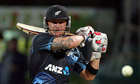 New Zealand's Brendon McCullum punishing England