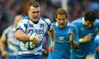 Stuart Hogg on the move for Scotland