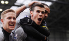 Tottenham celebrate