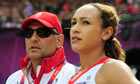 Jessica Ennis with Toni Minichiello, London 2012 Olympics