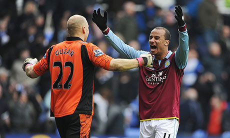 Brad Guzan Gabriel Agbonlahor Aston Villa