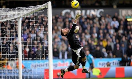 Ben Foster makes a save, Wolves v West Brom