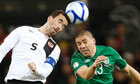 Austria's Christian Fuchs and Ireland's Jonathan Walters