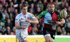Exeter's Gareth Steenson and Harlequins' Rob Buchanan