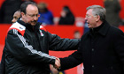 Rafael Benítez and Sir Alex Ferguson