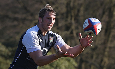 England's Chris Robshaw during a squad training session