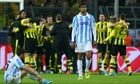 Dejection for Málaga after Borussia Dortmund's dramatic win