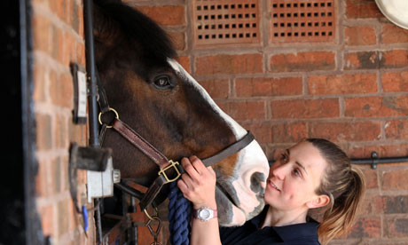 Police horse handler, Isabelle Collins, with Bud, of Wes