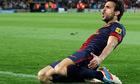 Cesc Fabregas celebrates