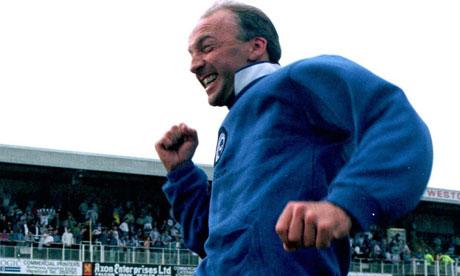 Brighton manager Steve Gritt celebrates his side's remarkable escape